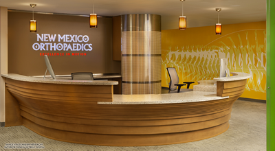 New Mexico Orthopaedics Reception Desk