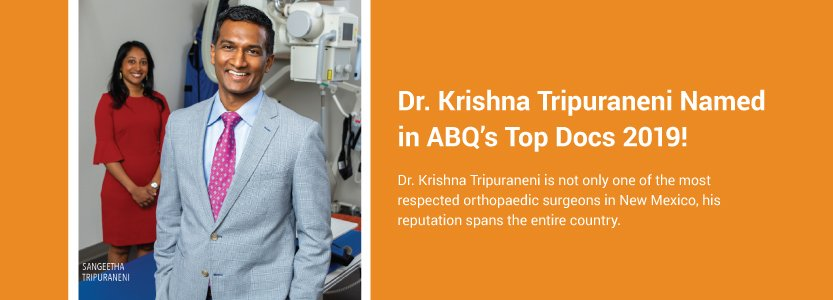 Dr. Tripuraneni Featured in ABQ Magazine 2019 Top Docs!